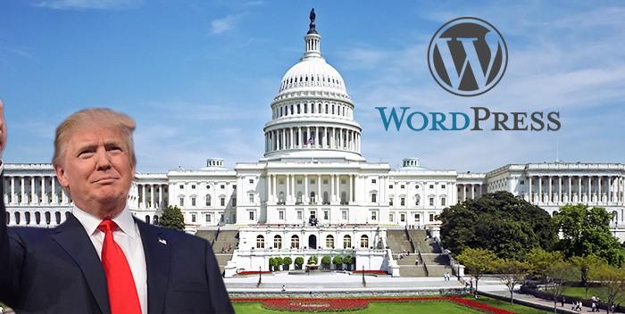 Anche Donald Trump sceglie WordPress per il sito della casa bianca.